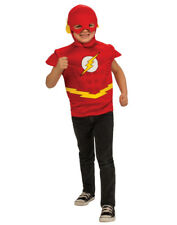Boys Justice League The Flash Muscle Chest T-Shirt Mask and Cape Costume