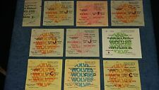 Wolves Home Tickets 1962-2011