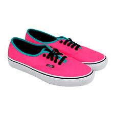 Vans Authentic Mens Pink Synthetic Lace Up Lace Up Sneakers Shoes