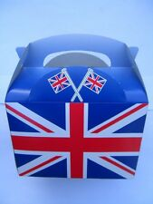UNION JACK PARTY BOXES - Various Quantities 5 to 100 (Food/Lunch/Card)