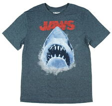 Jaws Classic Movie Deadly Shark Attack Swimming Ocean Poster Men's T-shirt