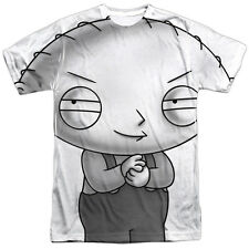 The Family Guy Stewie Head Mens Sublimation Shirt White