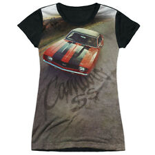 Chevy Camaro Ss Juniors Sublimation Black Back Shirt WHITE