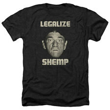 Three Stooges Legalize Shemp Mens Heather Shirt Black