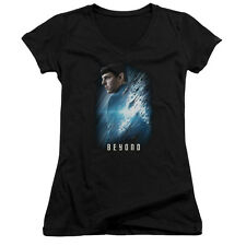 Star Trek Beyond Spock Poster Juniors V-Neck Shirt Black