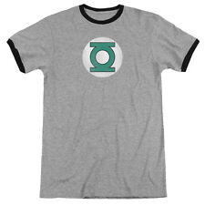 DC Comics Green Lantern Logo Distressed Mens Adult Heather Ringer Shirt