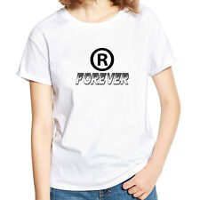 Unisex Summer Short Sleeve Forever Letter Print Casual Tee T-shirt Top Pretty