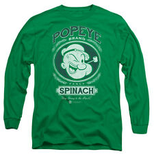 Popeye Fancy Spinach Mens Long Sleeve Shirt