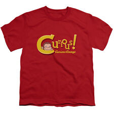 Curious George Curious Big Boys Youth Shirt RED