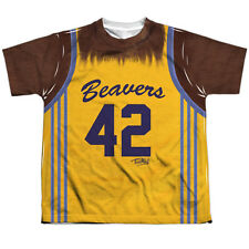 Teen Wolf Jersey Big Boys Youth Sublimation Polyester Shirt White