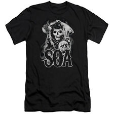 Sons Of Anarchy Smoky Reaper Mens Slim Fit Shirt