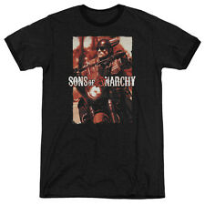 Sons Of Anarchy Code Red Mens Adult Heather Ringer Shirt Black