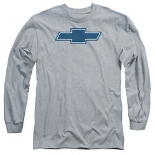 Chevy Simple Vintage Bowtie Mens Long Sleeve Shirt Athletic Heather