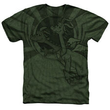 Dragon Tales Dragon Flight Mens Heather Sublimation Shirt Military Green