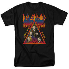 Def Leppard Hysteria Tour Mens Short Sleeve Shirt (Black, X-Large)