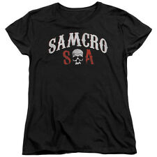 Sons Of Anarchy Samcro Forever Womens Short Sleeve Shirt Black