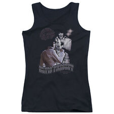 Elvis Presley Violet Vegas Juniors Tank Top Shirt BLACK