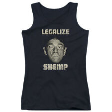 The Three Stooges Legalize Shemp Juniors Tank Top Shirt BLACK