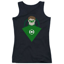 DC Comics Simple Green Lantern Juniors Tank Top Shirt BLACK
