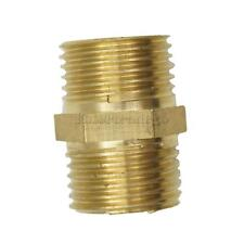 3/8-1''Brass Barbed Double Male End Hose Tube Threaded Fitting Coupler Connector