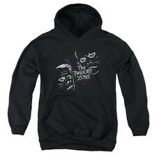 The Twilight Zone Strange Faces Big Boys Youth Pullover Hoodie BLACK