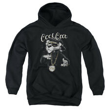 Pink Panther Cool Cat Big Boys Youth Pullover Hoodie Black