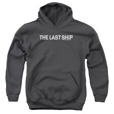Last Ship Distressed Logo Big Boys Youth Pullover Hoodie Charcoal
