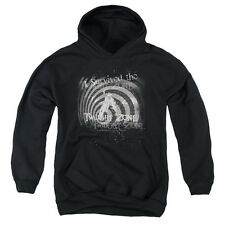 The Twilight Zone I Survived The Big Boys Youth Pullover Hoodie BLACK