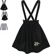 Sunny Fashion Girls Dress Suspender Skirt School Uniform Size 4-12