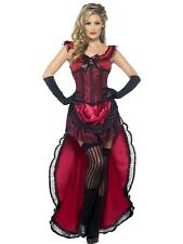 Western Authentic Brothel Babe Can Can Burlesque Costume Fancy Dress Cowgirl