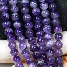 4mm 6mm 8mm 10mm 12mm Natural amethyst gemstone round loose beads 15 inches