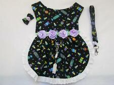 Black Lavender Candy S Dog Lace Harness Dress Leash Hairbow Charm Yorkie Maltese