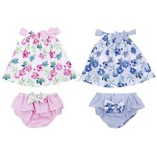 Toddler Kids Baby Girls Outfits Clothes Tops+Bloomers Pants Infant Romper 2PCS