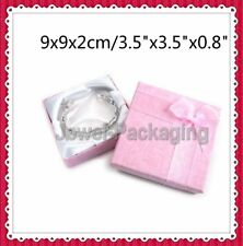 5 10 20 Pink Square Jewellery Gift Boxes Bracelet Bangle Box 9 x 9 x 2 cm