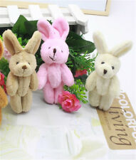 2x Wedding Gift Joint Rabbit Pendant Plush Stuffed TOY Soft Rabbit Toy For Kid J
