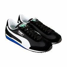 Puma Whirlwind Classic Mens Black Suede Lace Up Lace Up Sneakers Shoes