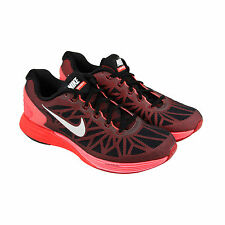 Nike Nike Lunarglide 6 Mens Black Mesh Athletic Lace Up Running Shoes