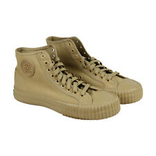 PF Flyers Center Hi Mens Tan Canvas Lace Up Sneakers Shoes