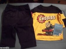 THOMAS THE TRAIN BOYS 2 PC OUTFIT, SIZE 18 & 24 - NEW w/ TAG