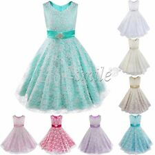 Flower Girl Princess Dress Kid Baby Party Wedding Pageant Bridesmaid Communion