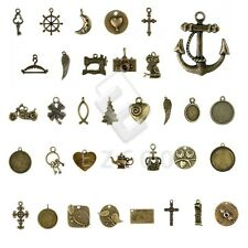 5-250pcs Antique Brass Spacer Metal Pendant Charm Jewelry Findings 37 style YB