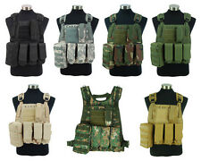 Airsoft Tactical Military Combat Assault Molle Plate Carrier Vest Black/Tan/OD