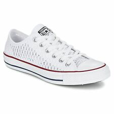 Converse Chuck Taylor All Star Ox White Womens Textile Trainers Lace-up