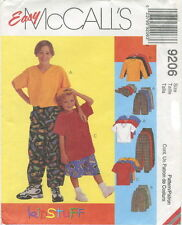 McCalls 9206 Boys Shirts T-Shirt Pants Shorts Hat Sewing Pattern ~ Size 7 8 10
