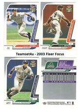 2003 Fleer Focus (JE) Jersey Edition (1-160) Baseball Sets ** Pick Your Team **