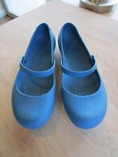 Crocs Alice Dark Turquoise Blue Mary Jane Work Women's Shoes Size 8