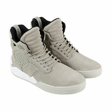 Supra Skytop IV Mens Beige Suede High Top Lace Up Sneakers Shoes