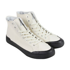 HUF Classic Hi Mens White Canvas High Top Lace Up Sneakers Shoes