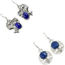 925 sterling silver lapis earrings jewelry by jewelexi 6421A