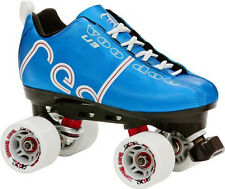NEW! LABEDA VOODOO U3 BLUE QUAD SPEED ROLLER SKATES MENS sz 6 ABEC 9 $200 valu